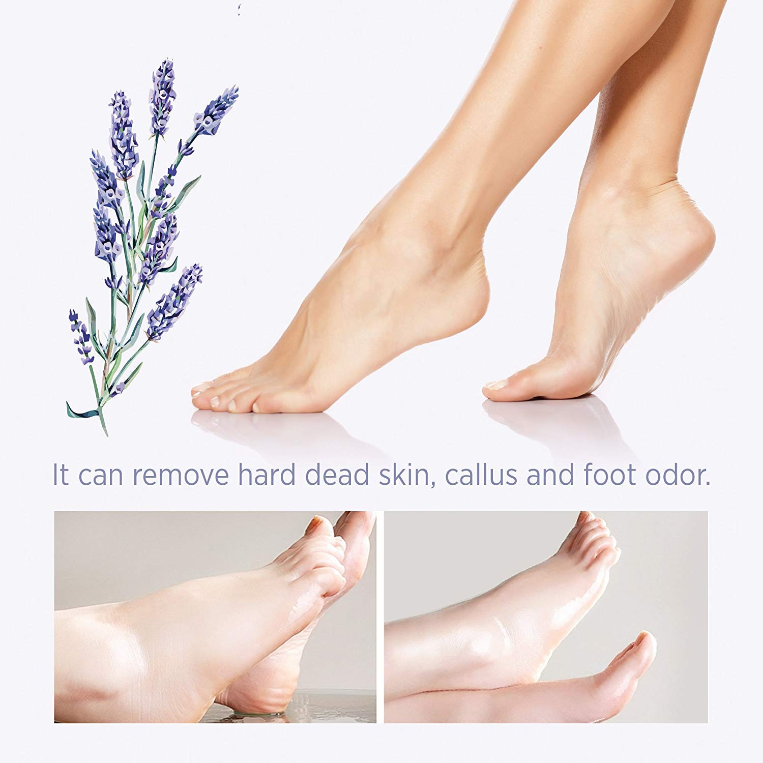 2 Pairs Foot Peel Mask Exfoliant for Soft Feet in 1-2 Weeks, Exfoliating Booties for Peeling Off Calluses & Dead Skin, For Men & Women Lavender by Bea Luz : Beauty