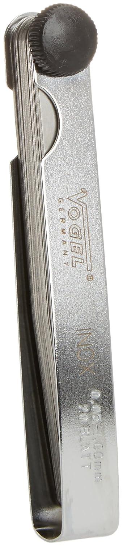 Vogel 41 3107 - Juego de 20 galgas de espesores 0,05-1,00 mm, marcadas al á cido, acero inoxidable, largo 100 mm marcadas al ácido Aghasa Turis 413107.0