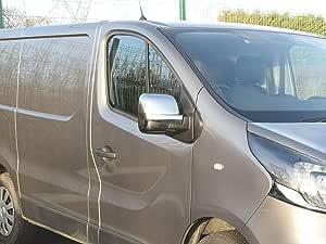 Cromado ABS Puerta Cubierta Del Espejo Retrovisor Set de 2 para Opel Vivaro (2014 On): Amazon.es: Coche y moto