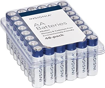 48-Pack Insignia AA or AAA Batteries (White/Blue)