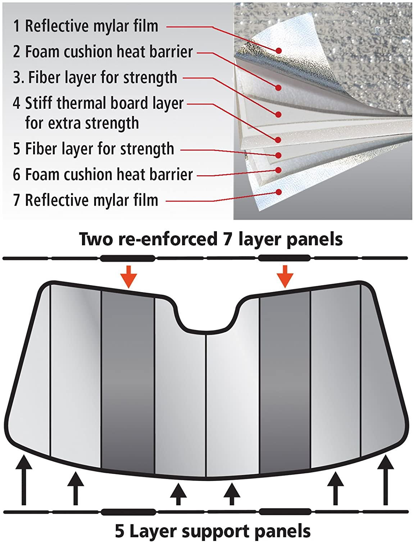 Intro-Tech VW-47-P Silver Custom Fit Premium Folding Windshield Sunshade for Select Volkswagen Jetta Models