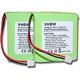 Set ahorro 2 x Batería NI-MH 500mAh 2.4V, para MEDION MD81877 / MD82877 etc. recambio de 5M702BMX / GP0827 / GP0845