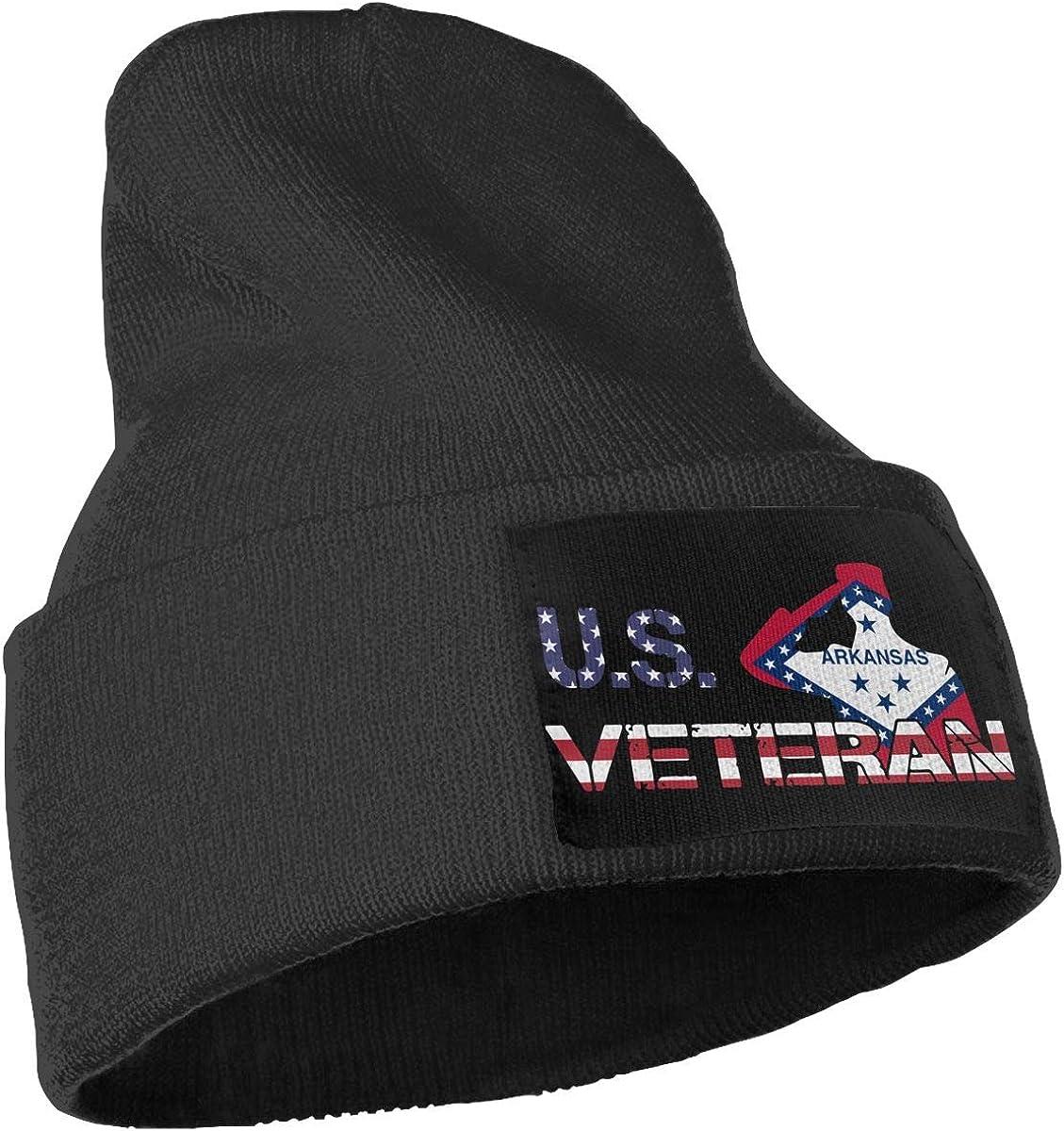 COLLJL-8 Unisex American Veterans Day Arkansas Flag Outdoor Fashion Knit Beanies Hat Soft Winter Skull Caps