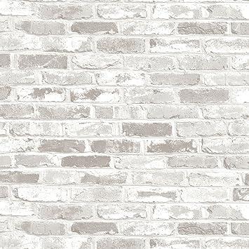 Rouleau adhésif - 45 x 200 cm - Brique blanche: Amazon.fr: Cuisine ...