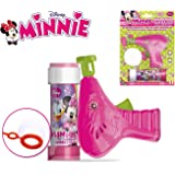 Pistola spara Bolle Minnie Cartoon Incluso flacone 60ml di Sapone specifico Bolle. MWS