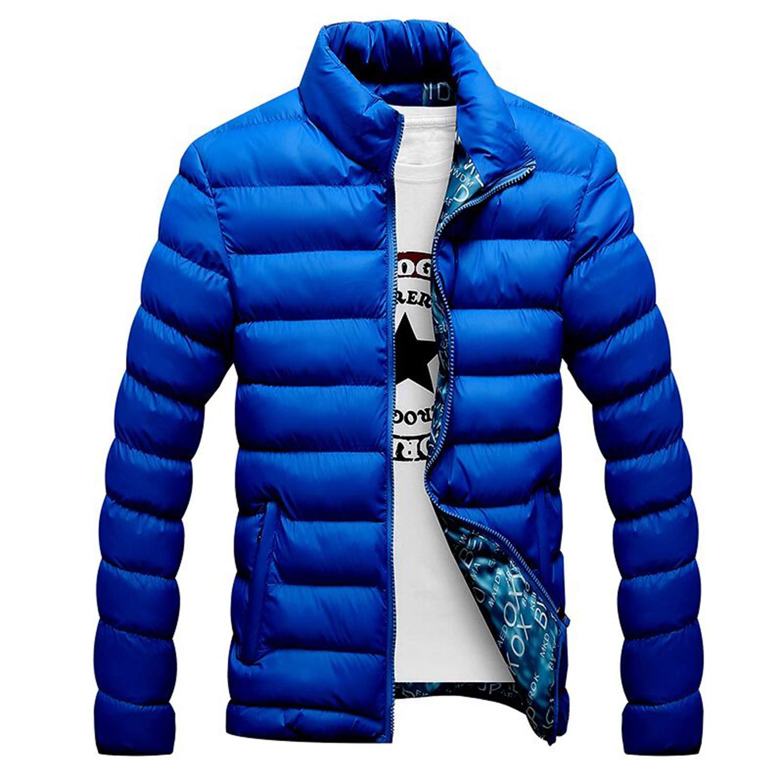 bluee Jackets Parka Men Autumn Winter Warm Outwear Brand Slim Coats Windbreak Jackets