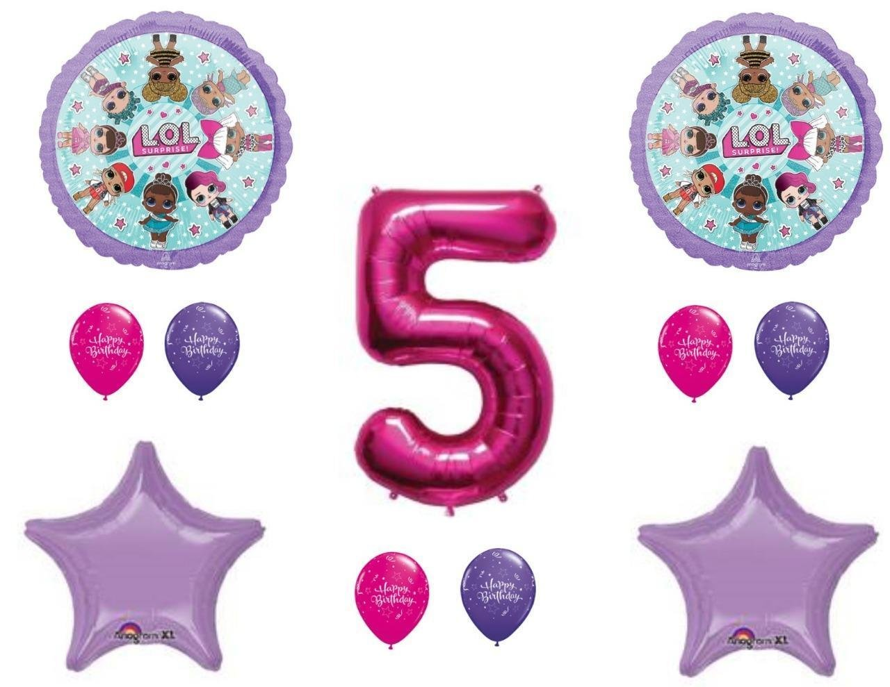 5th Birthday Party LOL Balloons Decoration Supplies