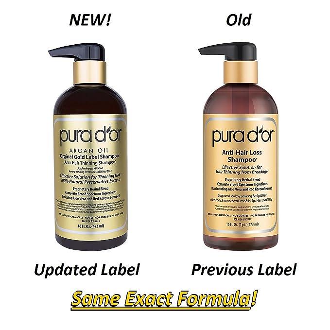 Pura D Or Original Gold Label Anti Thinning Shampoo Clinically