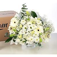 Ramo de Flores variadas en Tono Blanco, Flores Naturales a Domicilio Blossom® | Flores Frescas y Recién Cortadas a…