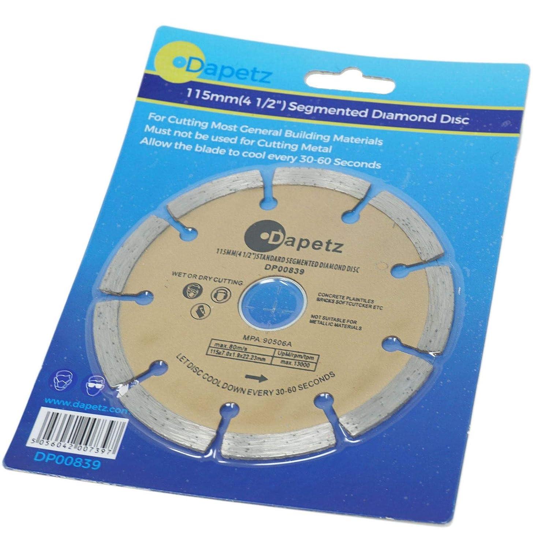 Dapetz /® 3 X 115mm 4.5 Diamond Disc Cutting Blade Angle Grinder Stone Brick Concrete