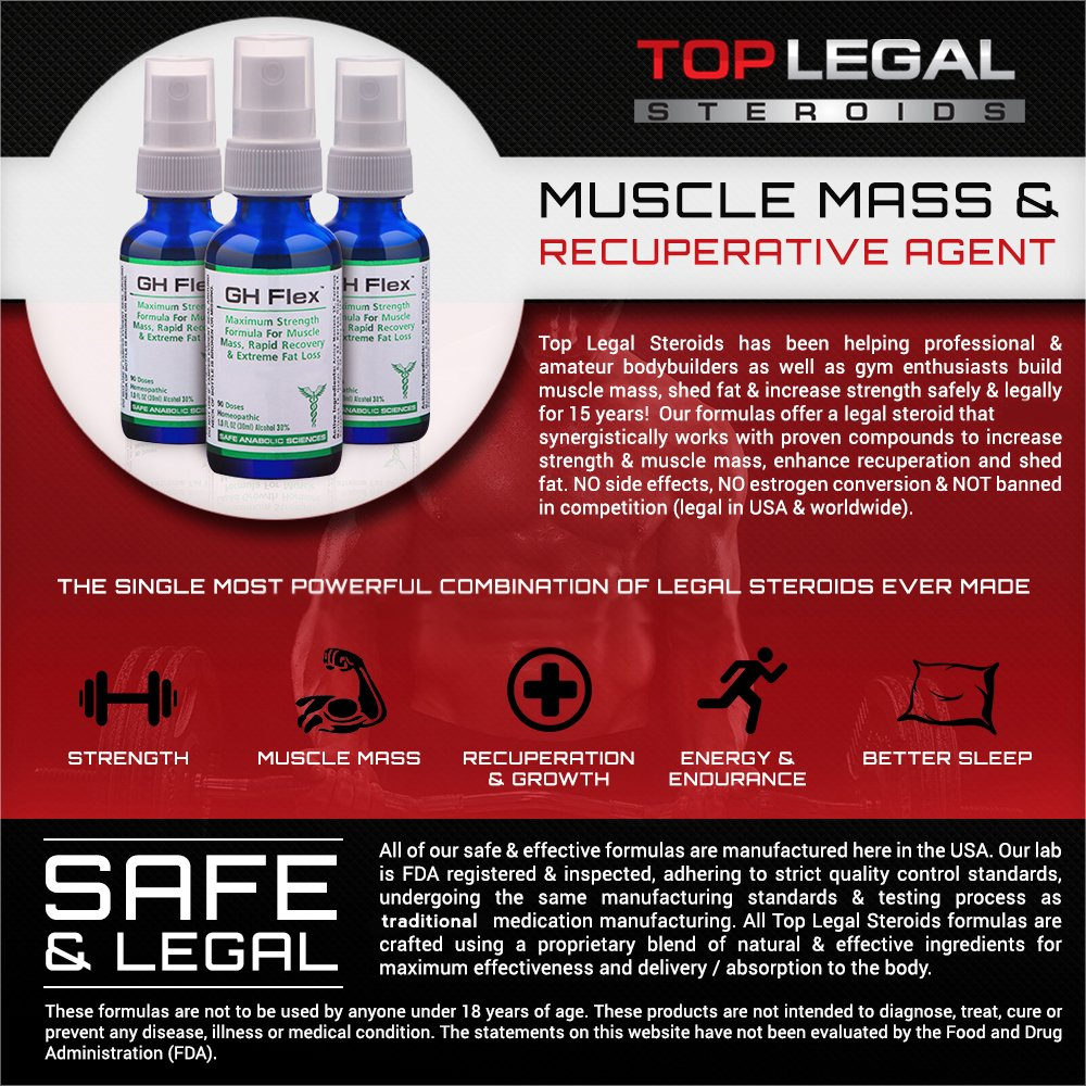 G H Flex - Natural Muscle Mass & Recuperative Agent By Top Legal Steroids & Muscle Stacks   3-Month Stack Supply   Rapid Recovery, Muscle Mass & Stamina   Bodybuilding Supplements by Safe Anabolic Sciences (Image #3)