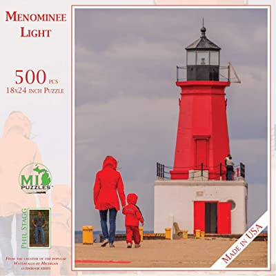 Red (Menominee Light) - 500 Piece MI Puzzles Jigsaw Puzzle: Toys & Games