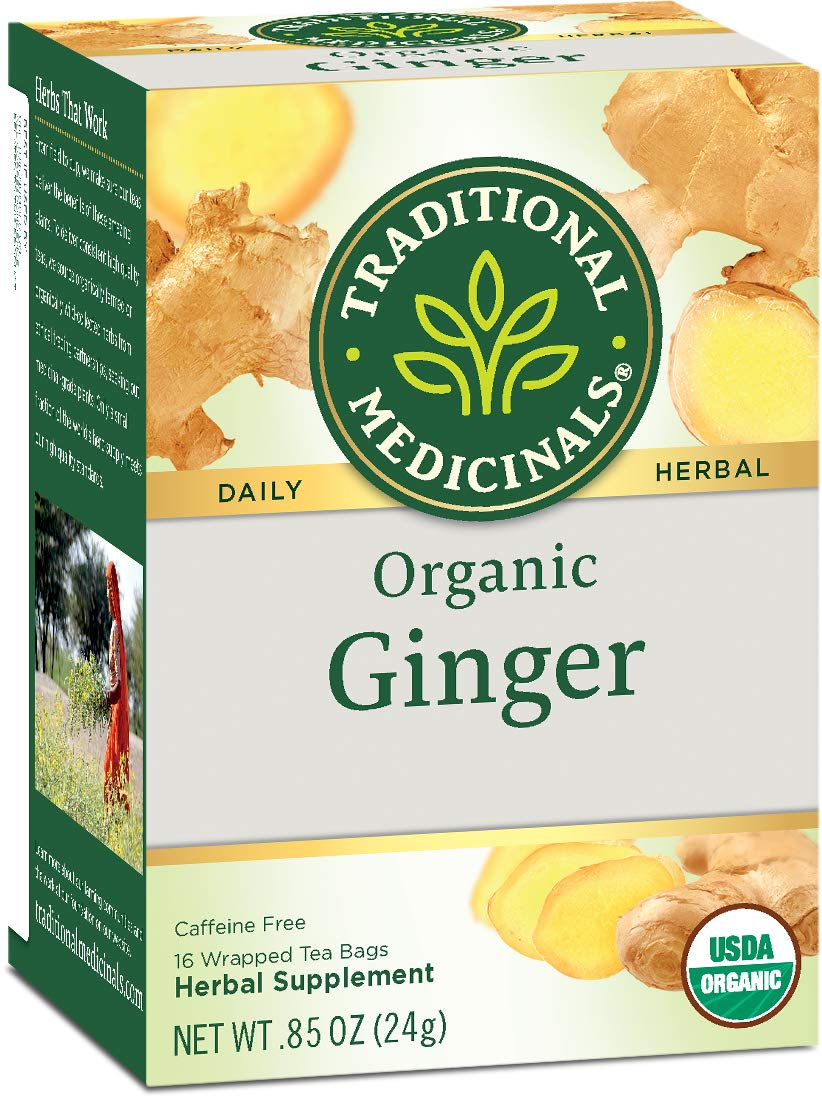 Traditional Medicinals Organic Ginger Herbal Leaf Tea, 16 Tea Bags
