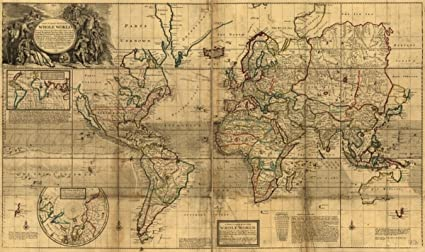 Amazon.com: Map: 1719 A new & correct of the whole World|Earth ...