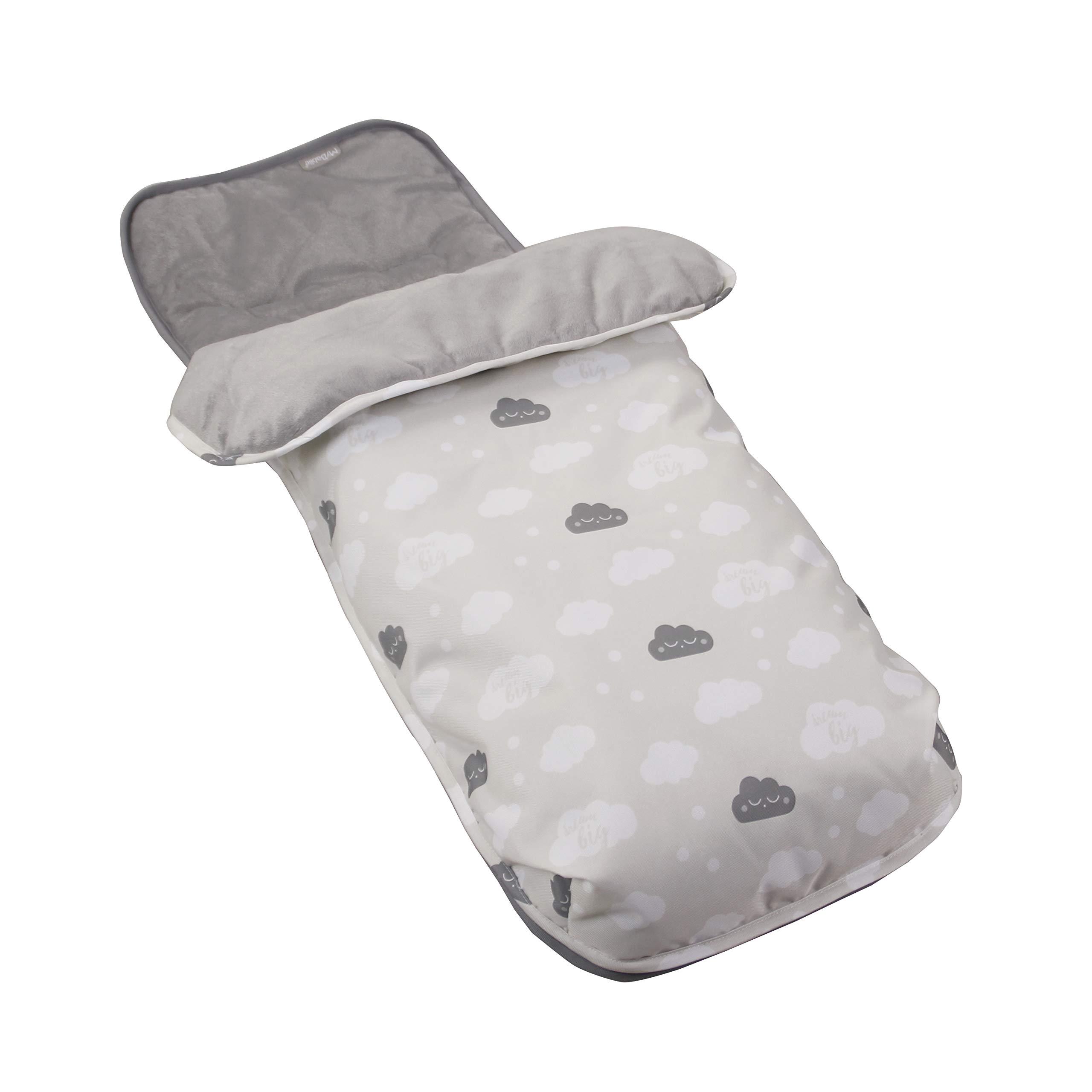 Grey Clouds Stroller Footmuff
