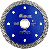 SHDIATOOL Diamond Mesh Turbo Saw Blade 4 Inch for Tile Porcelain Ceramic Marble Brick with X Continuous Rim Segment