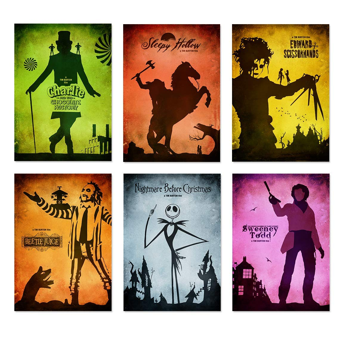 E758DB Shining Movie Poster Halloween Dollhouse Miniature