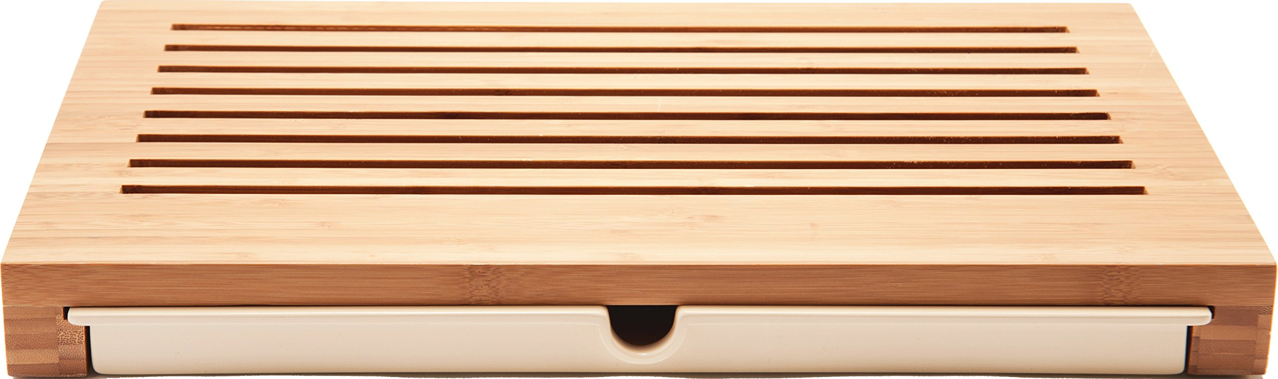 Alessi ''Sbriciola'' Bread Board in Bamboo Wood With Crumb Catcher in Thermoplastic Resin, Wood by Alessi