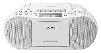 Sony CFD S70W Boombox Radioregistratore Bianco