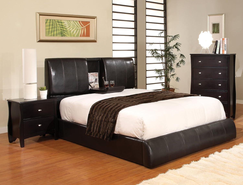 Flip Furniture Amazoncom Furniture Of America Stanley Leatherette Platform Bed