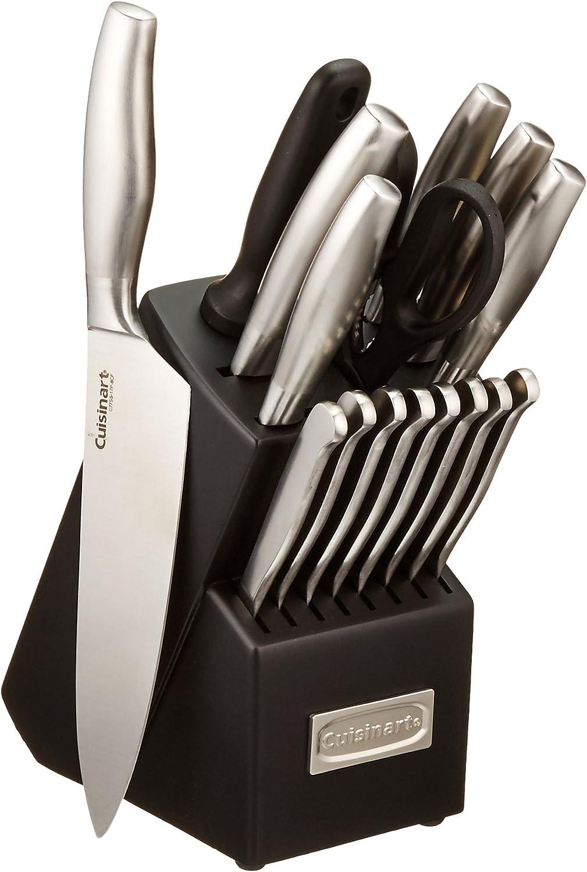 Cuisinart C77SS-17P 17-Piece Artiste Collection Cutlery Knife Block Set, Stainless Steel