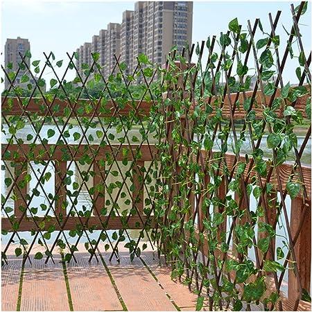 YOGANHJAT Celosia Madera Extensible Celosía de Madera Enrejado Jardín Madera Natural Resistente para Plantas De pie Valla Casa Jardinería Bricolaje marrón,100 * 67cm/39.3 * 26.3in: Amazon.es: Hogar