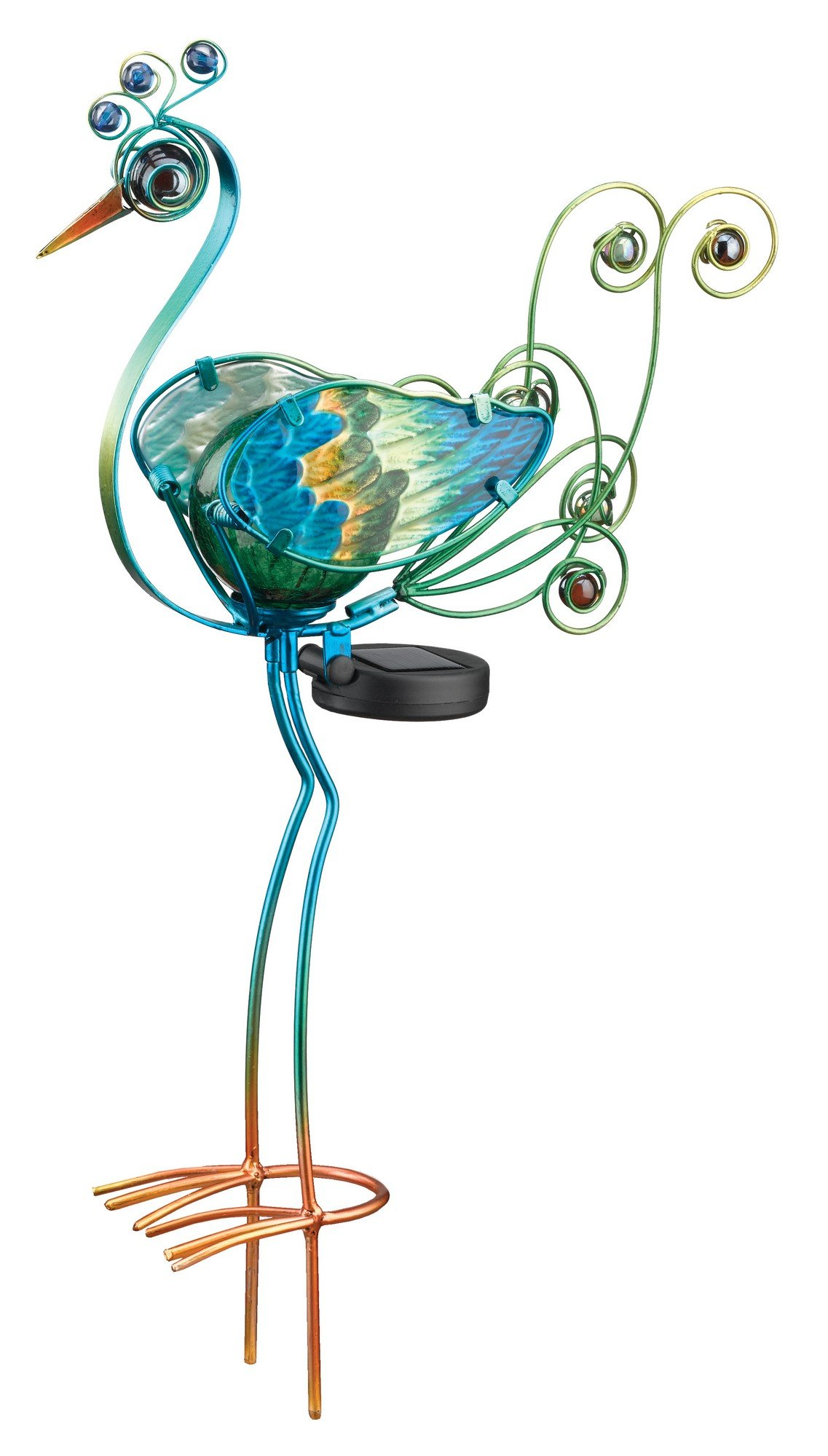 Regal Art & Gift Solar Peacock Stake, green, 21''