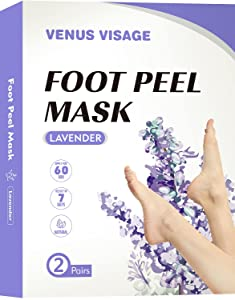 Foot Peel Mask-2 Pack Foot Peeling Mask,Peeling Away Calluses and Dead Skin Cells, Exfoliating Sock Foot Mask- Make Your Feet Baby Soft & Get a Smooth Skin, Removes & Repairs Rough Heels- Exfoliating Peeling Natural Treatment