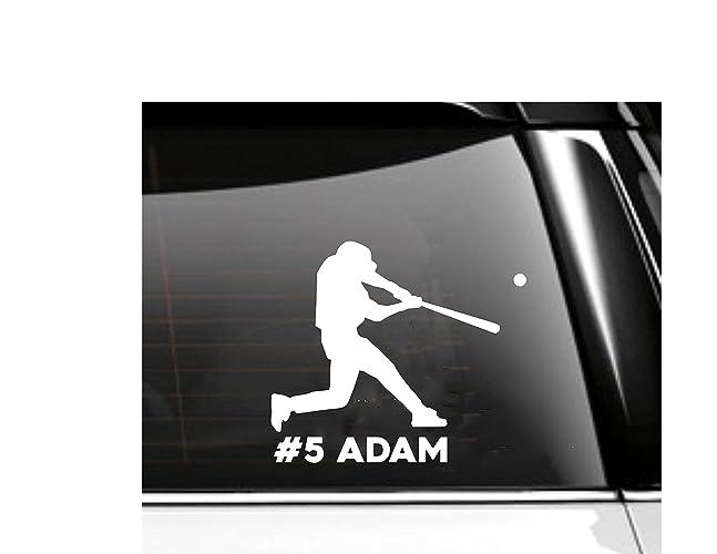Personalized baseball car decal baseball player