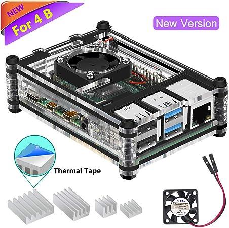 Iuniker Gehäuse Für Raspberry Pi 4 B Abs Gehäuse Für Computer Zubehör