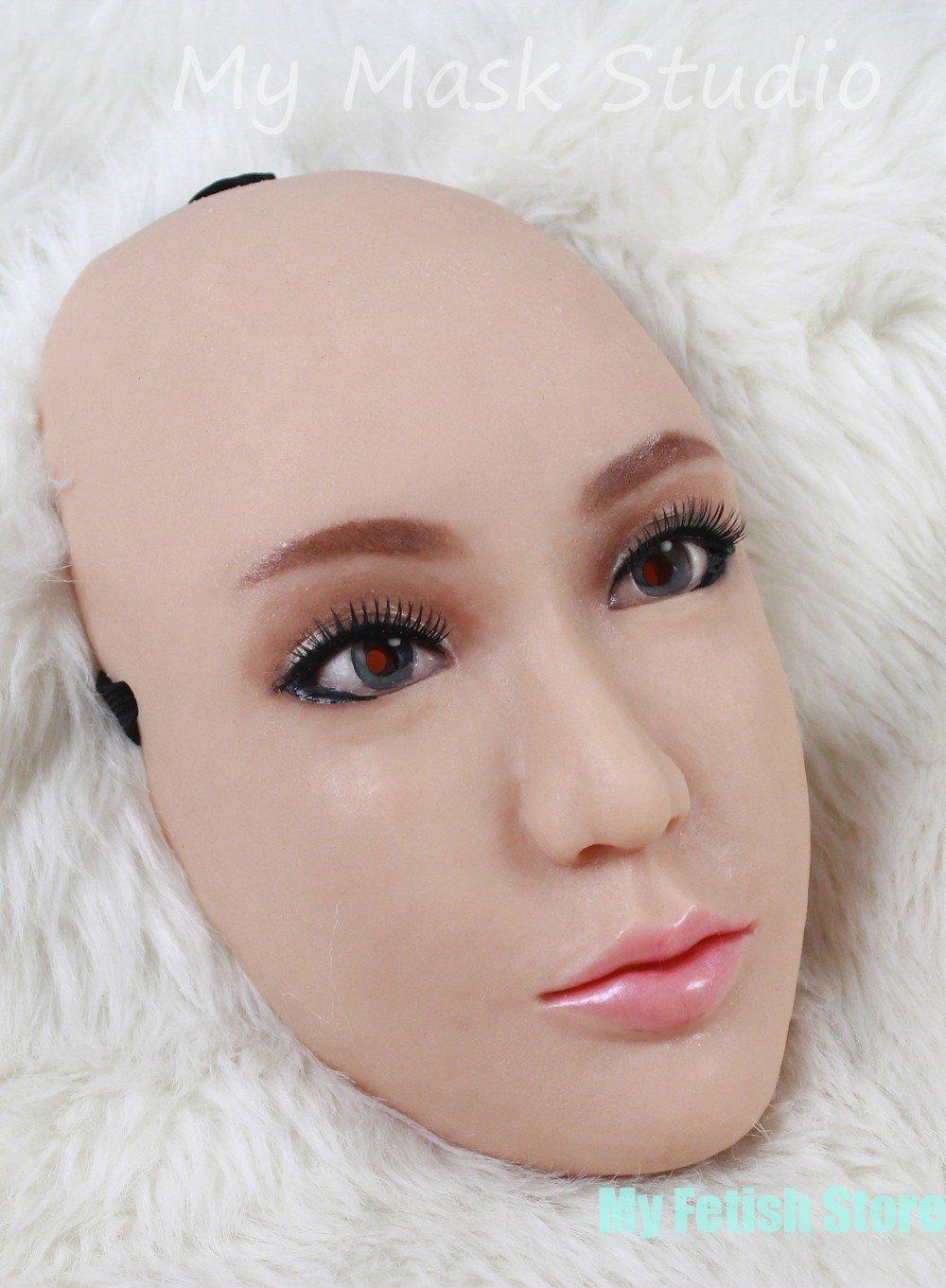 シリコン製 半顔 目無しフィメールマスク Silicone Female Mask CHING MASK