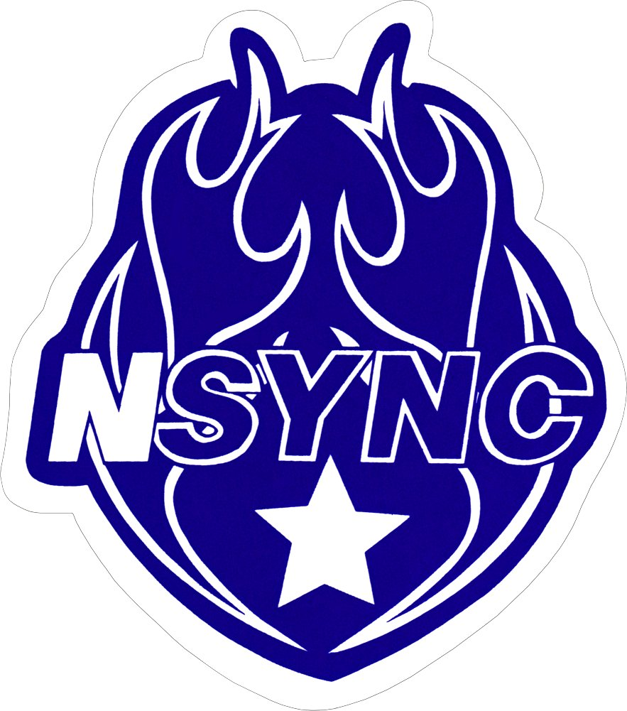 Sticker Decal Square Deal Recordings /& Supplies Nsync Heart Logo in Blue NSync