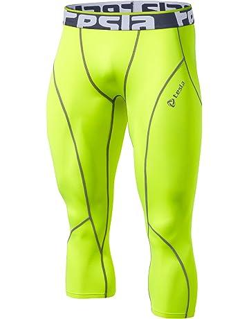 5d1a1d1186 TSLA Men's Compression 3/4 Capri Pants Baselayer Cool Dry Sports Running  Yoga Tights