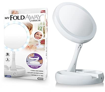 4545def98c4 Image Unavailable. Image not available for. Color  Emson My Foldaway Mirror  The Lighted ...