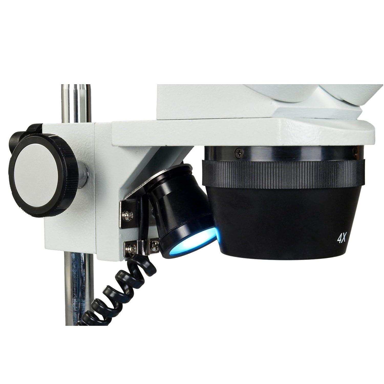 OMAX 20X-40X Cordless Dual LED Lights Binocular Stereo Microscope with 5MP USB Camera