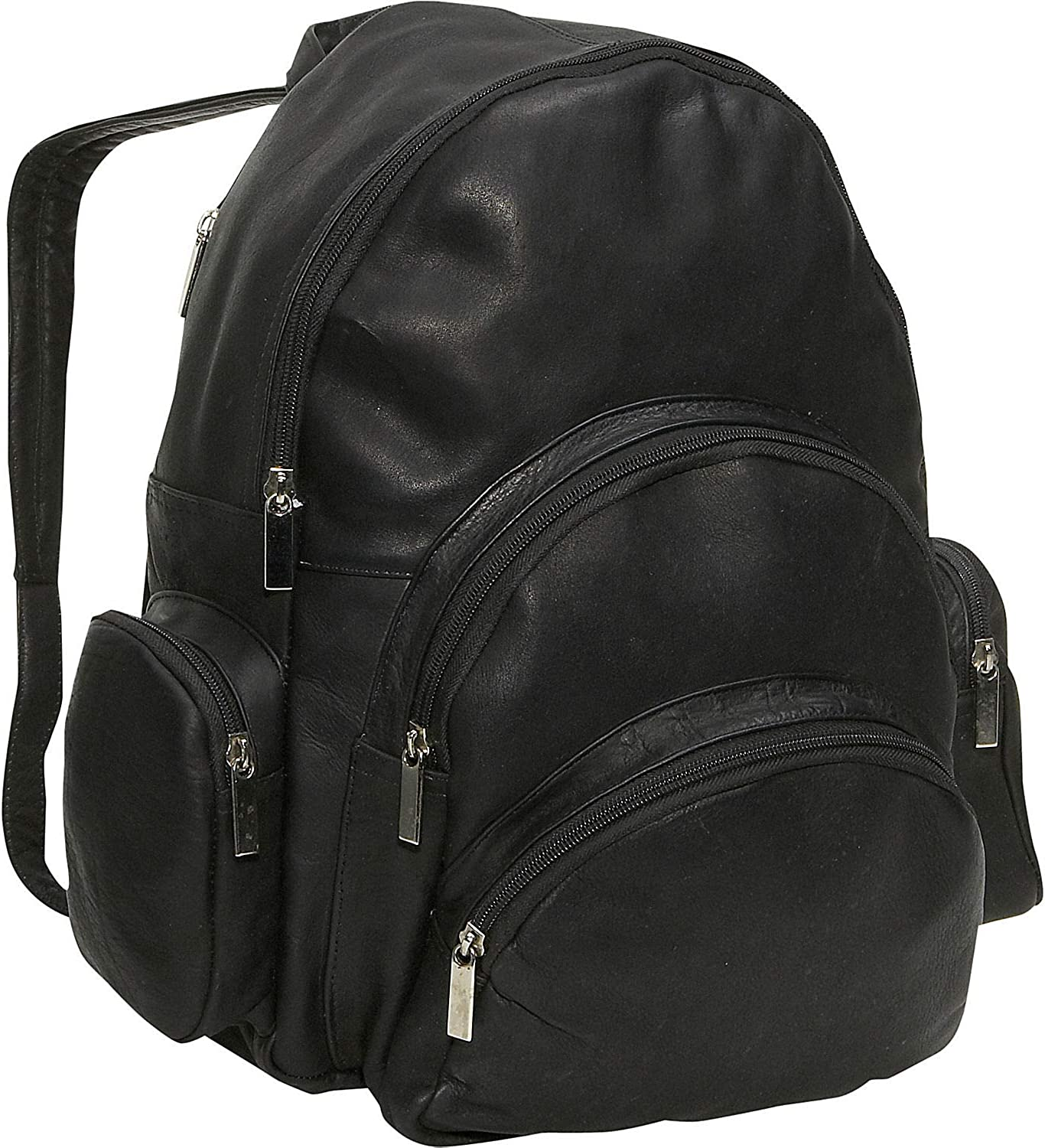David King Leather Expandable Backpack