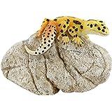 Top Collection Miniature Fairy Garden and Terrarium Leopard Gecko on Rock Statue