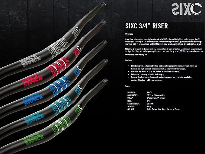 Race Face Sixc - Manillar para bicicletas, color negro: Amazon.es: Deportes y aire libre