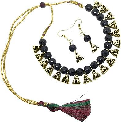 Tribal Choker Ethnic Necklace Earrings Collar Jewelry Gypsy Hippie Boho India