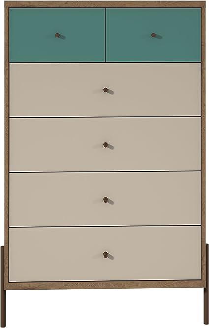 BoloShine 6 Drawer Dresser Ideal for Living Room Bedroom Multipurpose Universal Dresser in Warm White