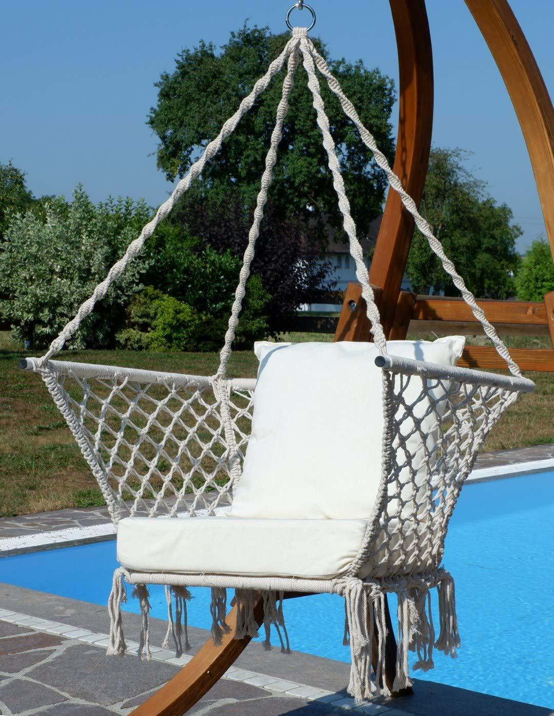 Diseño Silla Colgante Catalina con Soporte de Madera alerce ...
