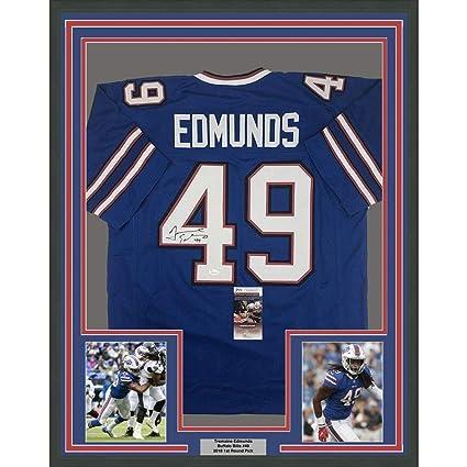 1e248b6ee69 Autographed Tremaine Edmunds Jersey - FRAMED 33x42 Blue COA - JSA Certified  - Autographed NFL Jerseys