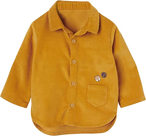 VERTBAUDET Camisa para bebé niño de Pana Amarillo 9M: Amazon ...