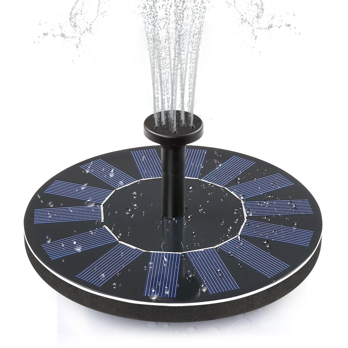 ADDTOP Solar Bird Bath Fountain Pump 1.4W Free Standing Solar Panel Kit Water Pump for Garden, Pond, Pool by ADDTOP