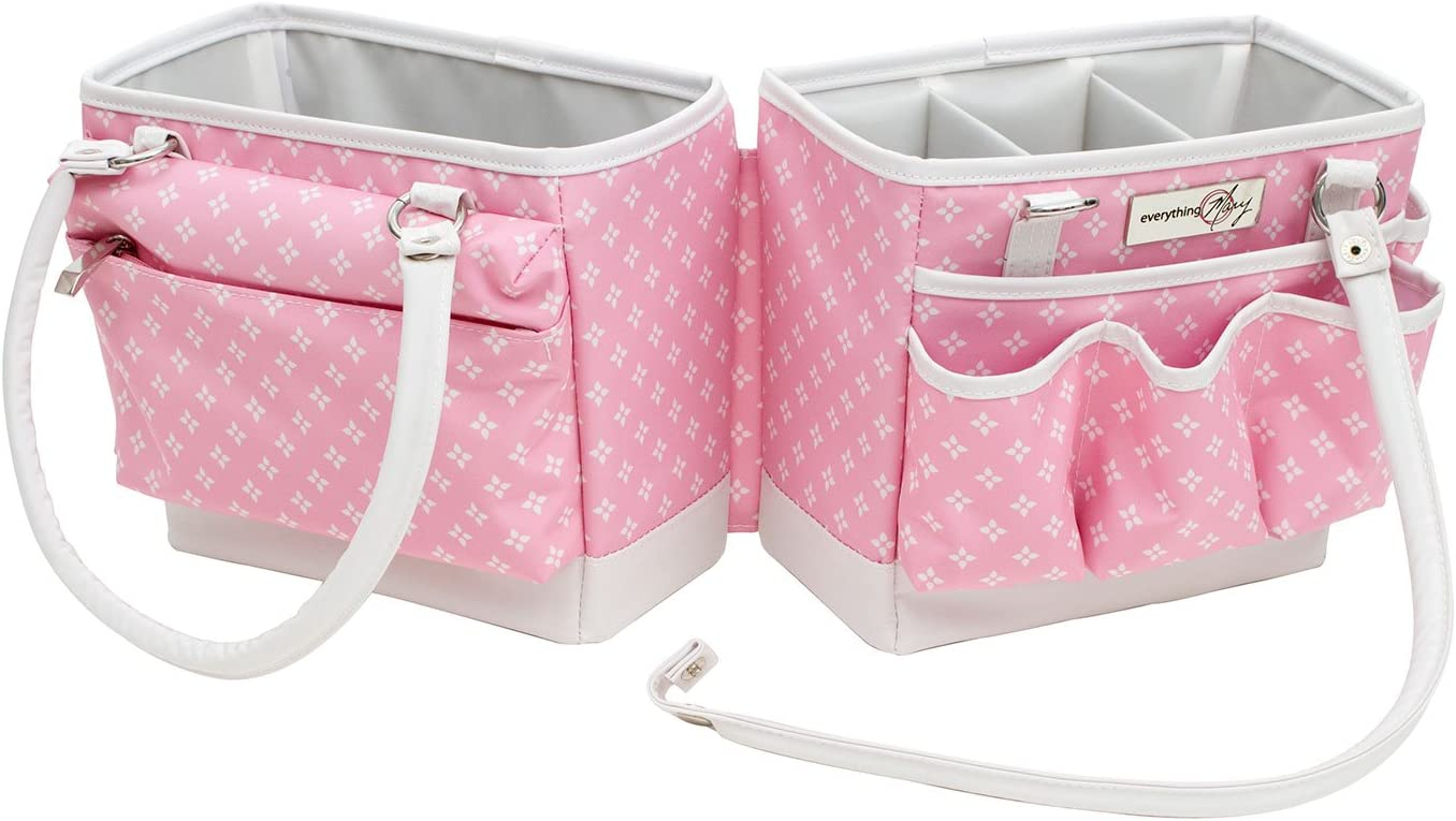 Fold-Open Square Organizer Pink Star 28 x 24 x 19cm  Everything Mary EVM12011-4