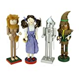 "Northlight Decorative ""Wizard of Oz"" Wooden Christmas Nutcrackers, Set of 4"