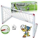 Remeehi Easy Soccer Game for Kids Portable Folding Football Goal Gate Outdoor Backyard Lawn Goal Post Kickball Game Set