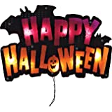"Impact 16"" Lighted ""Happy Halloween"" Sign Window Silhouette Decoration"
