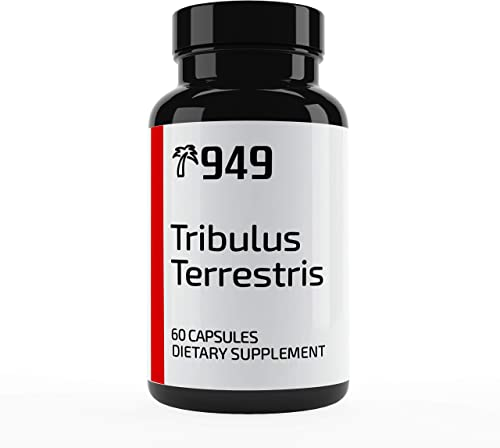 Tribulus Terrestris Extract, Under 10 Dollars, 60 Capsules, Increase Stamina, Boost Testosterone, No Filler or Additives, Lab-Tested Purity, Made in USA, Satisfaction 100 Guaranteed, 949*