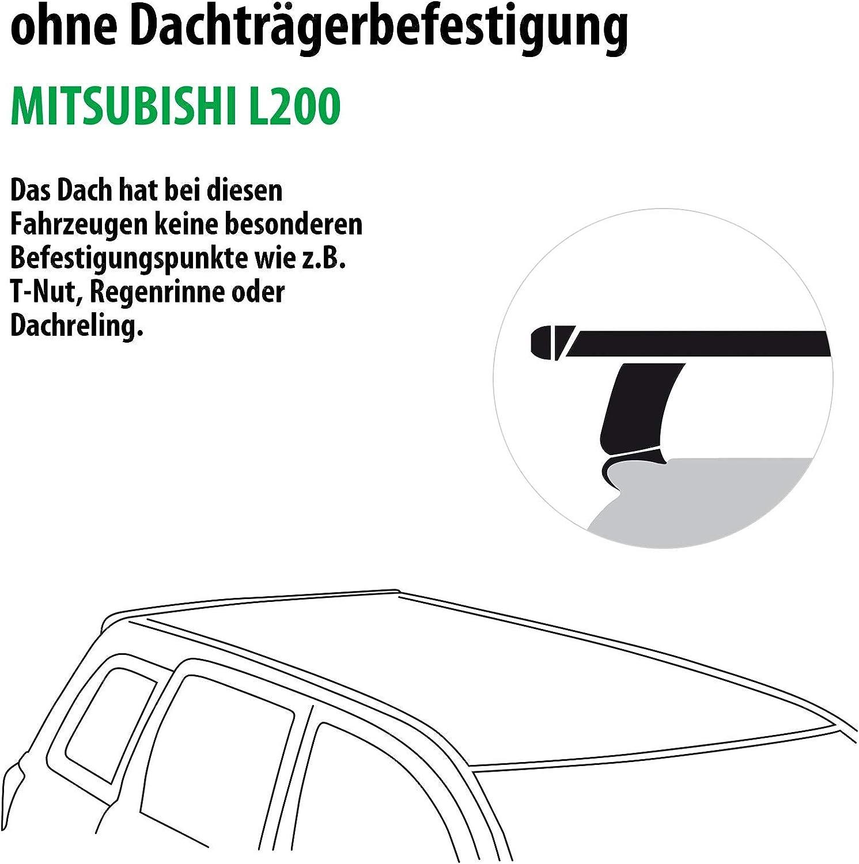 Dachtr/äger Tema f/ür Mitsubishi L200 Rameder Komplettsatz 118867-13834-1